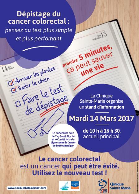 Mars bleu : une journée de sensibilisation sur le dépistage du cancer colorectal à la Clinique Sainte-Marie